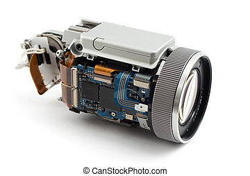 disassembled camera - disassembled photo camera, shot on...