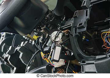 Disassembled car console