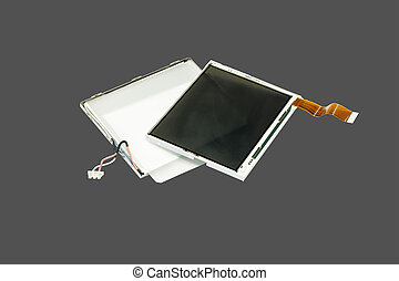 Disassembled LCD. - LCD display in a disassembled form...