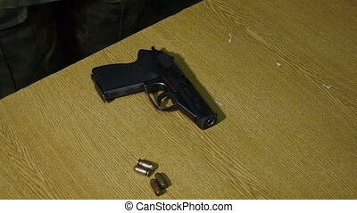disassembling of a pistol