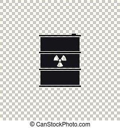 disaster., 屑, 汚染, ごみ, 危険, keg., 隔離された, イラスト, バックグラウンド。, 放出, ベクトル, 生態学的, 有毒, 放射性, 樽, 無駄, 透明, 環境, アイコン