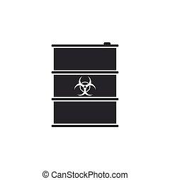 disaster., 屑, biohazard, 放射性, ごみ, 危険, isolated., keg., 放出, 危険, 環境, 生態学的, ベクトル, イラスト, 生物学である, 有毒, 汚染, 樽, ∥あるいは∥, アイコン