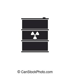 disaster., 平ら, 屑, 放射性, ごみ, 危険, isolated., keg., 放出, イラスト, 環境, 生態学的, ベクトル, 有毒, 汚染, 樽, 無駄, アイコン, design.