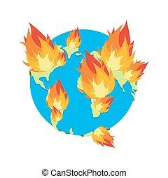 disaster., 最後の審判の日, burning., fire., 惑星地球