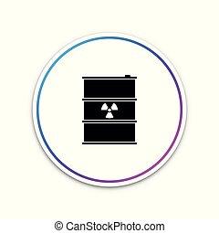 disaster., affaldet, forurening, affald, fare, keg., isoleret, illustration, baggrund., udstrålinger, vektor, økologiske, toksisk, radioaktive, hvid, affald, tønde, miljøbestemte, ikon