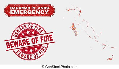 Disaster and Emergency Collage of Bahamas Islands Map and ...