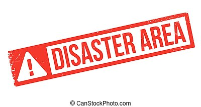 Disaster Area rubber stamp