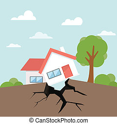 disaster earthquake downfall house