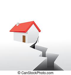 disaster earthquake house broken