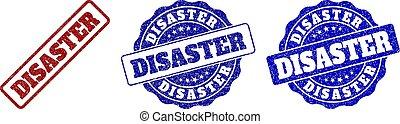 DISASTER Grunge Stamp Seals - DISASTER grunge stamp seals in...
