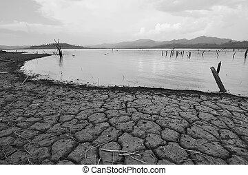 disaster., klíma, természetes, száraz