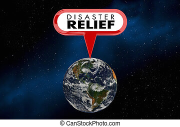 Disaster Relief Help Assistance Global Emergency 3d Illustration