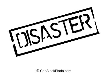 Disaster typographic stamp