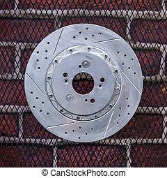 Disc brakes car.