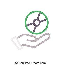disc color line icon