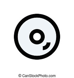 disc  flat color icon