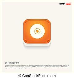 Disc Icon Orange Abstract Web Button