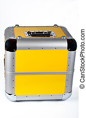 Disc Jockey suitcase on white background