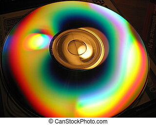 Disc - Light reflection off CD