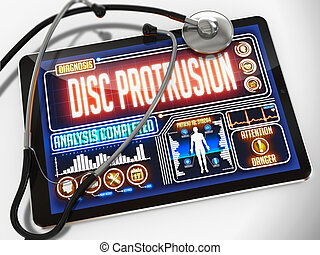 Disc Protrusion on the Display of Medical Tablet. - Disc...