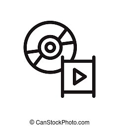 disc thin line icon