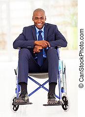 discapacitada / discapacitado, africano, hombre de negocios