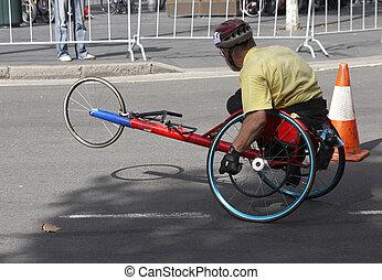 discapacitada / discapacitado, corredor