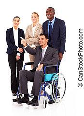 discapacitada / discapacitado, empresa / negocio, líder