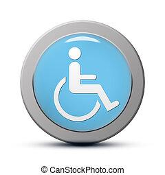 discapacitada / discapacitado, icono