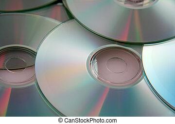 dischi compatti, colorito