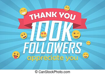 disciples, emoticon., illustration, vecteur, fond, félicitation, remercier, 100k, vous