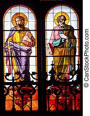 Disciples James Peter Stained Glass San Francisco el Grande Royal Basilica Madrid Spain