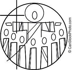 disciples, symbole, jésus christ
