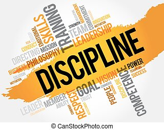 disciplina, palavra, nuvem