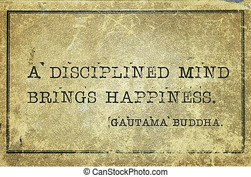disciplinado, mente, buddha