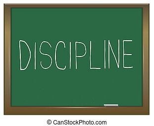 Discipline concept. - Illustration depicting a green...