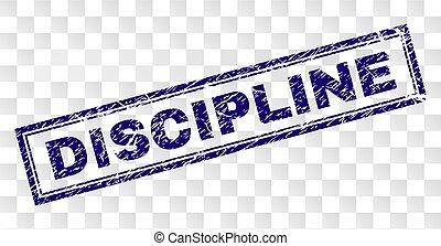 discipline, postzegel, grunge, rechthoek