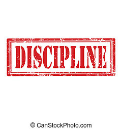 Discipline-stamp - Grunge rubber stamp with word...