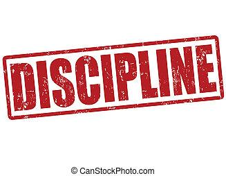 Discipline stamp - Discipline grunge rubber stamp on white,...