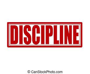Discipline - Stamp with word discipline inside, vector...