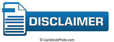 Disclaimer File Icon Horizontal - Disclaimer concept image...