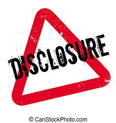 Disclosure rubber stamp