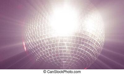 disco, állandó footage, labda