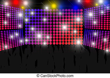 Disco Background - Disco background with lots of lights and...