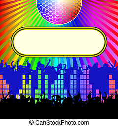 disco background - dance and music background with copy...