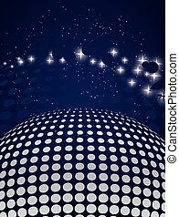 disco background with halftone effect