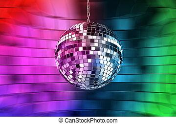disco bal, met, lichten