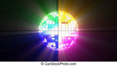 Disco ball able to loop