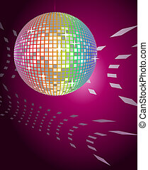Disco Ball - Abstract background with a disco ball
