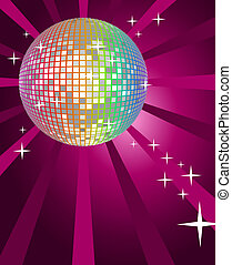 Abstract background with a disco ball